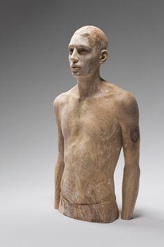 Wooden sculptures by Bruno Walpoth via @Juxtapoz Magazine