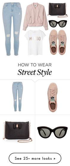 """""""street style"""" by blackxxx on Polyvore featuring River Island, MANGO, Ted Baker, Victoria Beckham and Puma"""