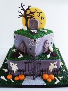 Ghastly Graveyard cake by Tea Party Cakes #evitegatherings