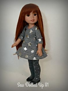 Rock Star Mini Dress And S For 14 Inch Dolls By Sewdolledup81