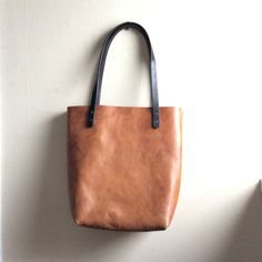 """20% Moving #Sale! Large Distressed Leather Tote  Russet Brown Tote by HattonHenry with code """"MOVINGDAY' !"""