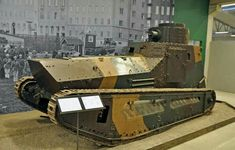Leichter Kampfwagon II. This German WWI design was intended to be an inexpensive light tank. Based on a Daimler car chassis, it used the existing axles to drive the sprocket and idler wheel. It was about the size of a Renault FT but a good deal faster. 58