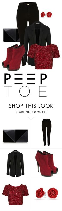"""Peep toes!"" by four-hearted ❤ liked on Polyvore featuring UN United Nude, George, Giuseppe Zanotti, Parker, Bling Jewelry and peeptoe"