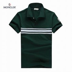 Moncler Mens classic T-shirt with dark green MW201503137