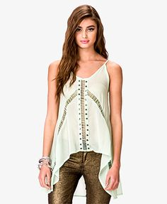Studded Georgette Tank - Forever21 $22.80
