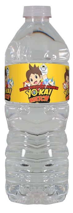 Yo Kai Watch personalized water bottle labels – worldofpinatas.com