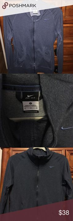 New without tags Nike Dri Fit Full Zip Possibly worn once, but I really don't think so haha. Adorable full zip. Lighter weight, great layering piece. Adorable pockets. Vented under arm holes and thumb hole. Nike Other