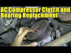 How to Remove and Replace an AC Compressor Clutch and Bearing - Quick Version - YouTube