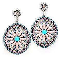 Amria Statement Earrings in Fresco on Emma Stine Limited