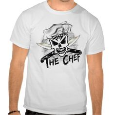Chef Skull with crossed knives T-shirt