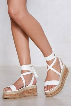 5ae2e7947571 Enough with the Cork Platform Sandal Strappy Sandals