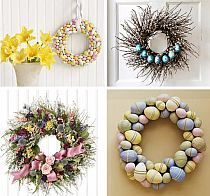 Easter is a great holiday, it's warm, homey and very spring-like. There are many ways to decorate your home for Easter. Easter home decorations are very Easter Wreaths, Holiday Wreaths, Holiday Fun, Holiday Crafts, Holiday Decor, Spring Wreaths, Living Room Easter Decorations, Diy Easter Decorations, Diy Osterschmuck