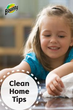 Don't let the idea of cleaning your entire house scare you away: check out these easy cleaning tips so your home stays cleaner longer! See how Bounty Paper Towels, a simple broom or duster, and a squeegee and be your magical utensils.