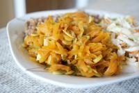 Marchewka duszona z pestkami dyni i porem (dieta wegańska)