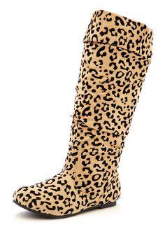Girls Animal Print Boot