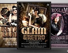"Check out new work on my @Behance portfolio: ""Retro Glam Flyer Bundle""…"