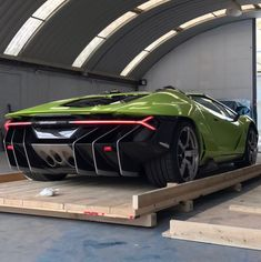 Lamborghini Centenario Roadster painted in Verde Scandal w/ exposed carbon fiber Photo taken by: @zilegallery on Instagram