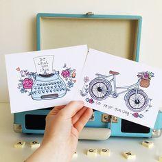 Ensemble de 2 impressions de devis mini Vintage  par KayleyDraws