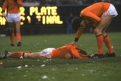 The Dutch hold the record for reaching the most World Cup finals without ever winning, at three, in 1974, 1978, and 2010. Sad face.   13 Things You Need To Know About The Netherlands' World Cup Team