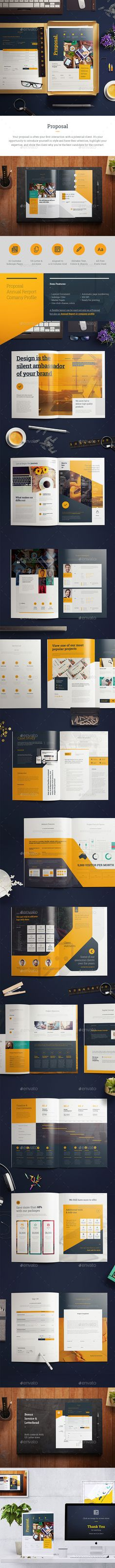 Proposal u2014 InDesign INDD brand informational u2022