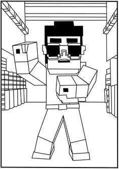 Minecraft Coloring Pages Birthdays Craft and Stuffing