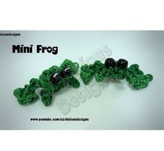 Rainbow loom mini frog