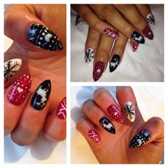 Nails hand painted by me!! :)