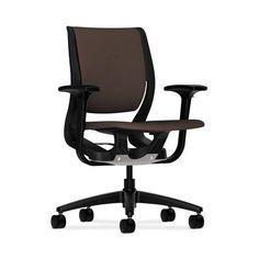 HON Purpose Mid-Back Chair in Grade V Silvertex Vinyl Upholstery: