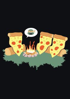Scary story for pizza slices. ;).... this made me laugh way harder than I should have! Love it! !