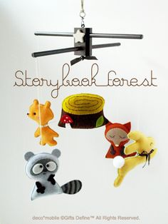 storybook forest mobile