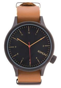 Komono MAGNUS - Uhr - black cognac - Zalando.de