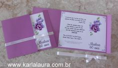 Karla Laura Convites, Lembranças e Papelaria Personalizada: Convite de aniversário adulto - Marlova 60 anos