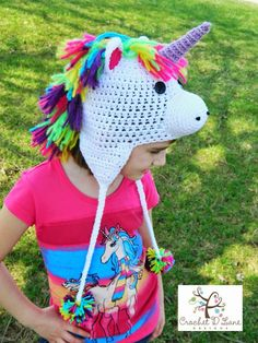 c54a2f0a716 30 Best Crochet Unicorn Hat images