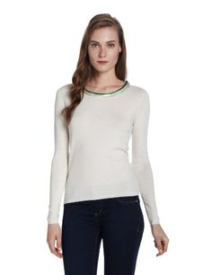 $102.21 awesome ELIE TAHARI Womens Ruella Silk Cashmere Long Sleeve Cashmere Blend Swaeter