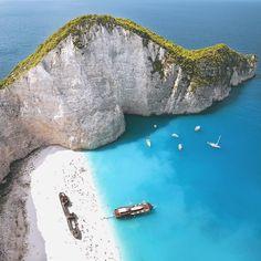 """Navagio Beach, Zakynthos, Greece @DoYouTravel"""