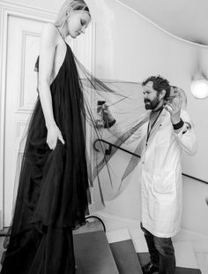 Backstage at Iris Van Herpen Haute Couture. Photos by Kevin Tachman.