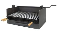 Imex El zorro 71517-tiroir BBQ with Elevator and Stainless Steel Grille