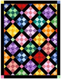 nine patch quilt layouts | Block of the Month April 2006