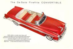 DeSoto Fireflite Convertible 1955 | Mad Men Art | Vintage Ad Art Collection