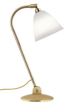 GUBI // Bestlite Table Lamp in bone china/brass Bauhaus, White Table Lamp, Table Lamps, British Home, Victoria And Albert Museum, Work Lights, Design Museum, Danish Design, Timeless Design