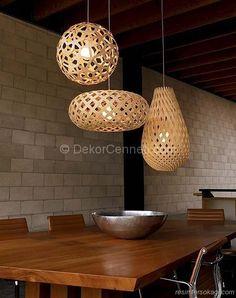 dekoratif şık sarkıt lambalar
