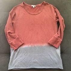 I just added this to my closet on Poshmark: James Perse Burgundy Blue Dip Dye Sweatshirt Top. Price: $22 Size: L