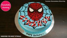 Easy Spiderman Birthday Cake Ideas Design Decorating Tutorial Video At Home Boys Girls Superhero for Spiderman Birthday Cake Designs - Cake Design Ideas Cake Designs For Kids, Simple Cake Designs, Cake Decorating Designs, Cake Decorating For Beginners, Easy Cake Decorating, Birthday Cake Decorating, Decorating Ideas, Elegant Birthday Cakes, Pretty Birthday Cakes