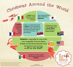 Christmas Facts around the World - My Winter Break 2020 Christmas In Italy, Merry Christmas To You, Office Christmas, All Things Christmas, Christmas Holidays, Christmas Crafts, Christmas Ideas, Christmas Facts For Kids, Xmas