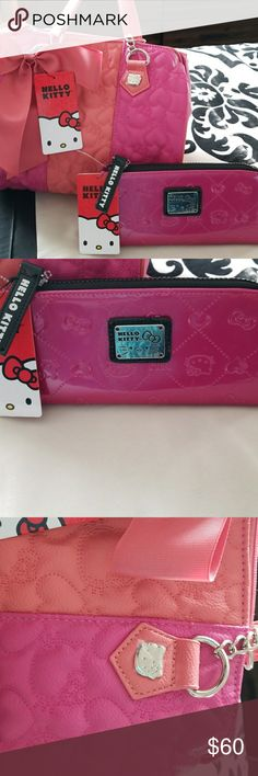 Hello kitty bundle Gorgueus pink  hello kitty purse With wallet Still has tags Brand new Never use Please feel free to contact me if you have any offer Hello Kitty Bags Shoulder Bags