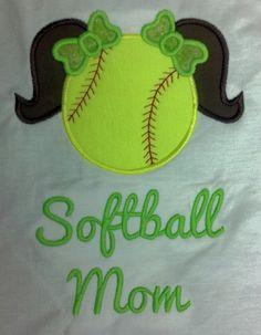 Softball Mom custom personalized shirt by littlehunnypotdesign, $22.00
