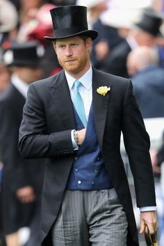 Prince Harry attends the first day of the 2016 Royal Ascot at Ascot Racecourse.