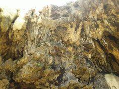 Stalaktit hasil air terjun pengantin pantai jogan