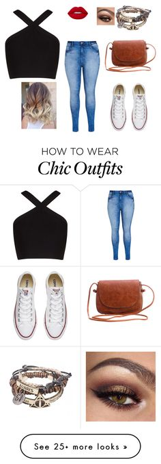 """Untitled #1"" by crazycatlady4life on Polyvore featuring BCBGMAXAZRIA, City Chic, Converse and Lime Crime"