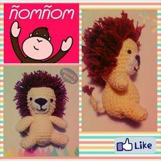León amigurumi by ñomñom mexico crochet lion
